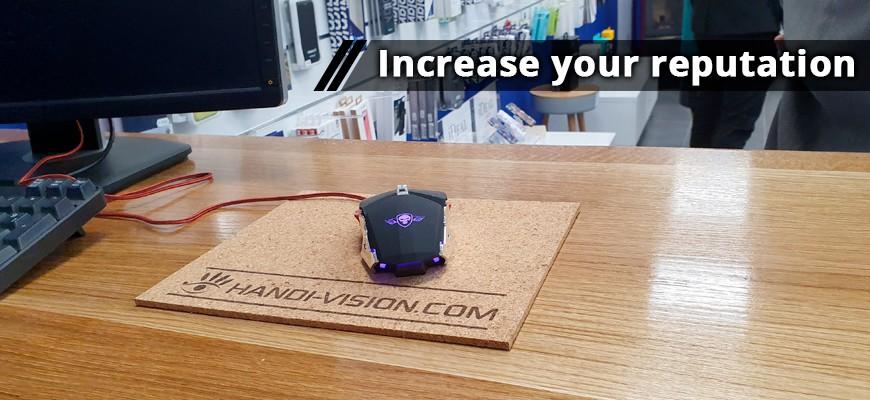 Customizable cork mouse pad